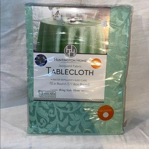 Other - NEW Mint Jacquard Tablecoth